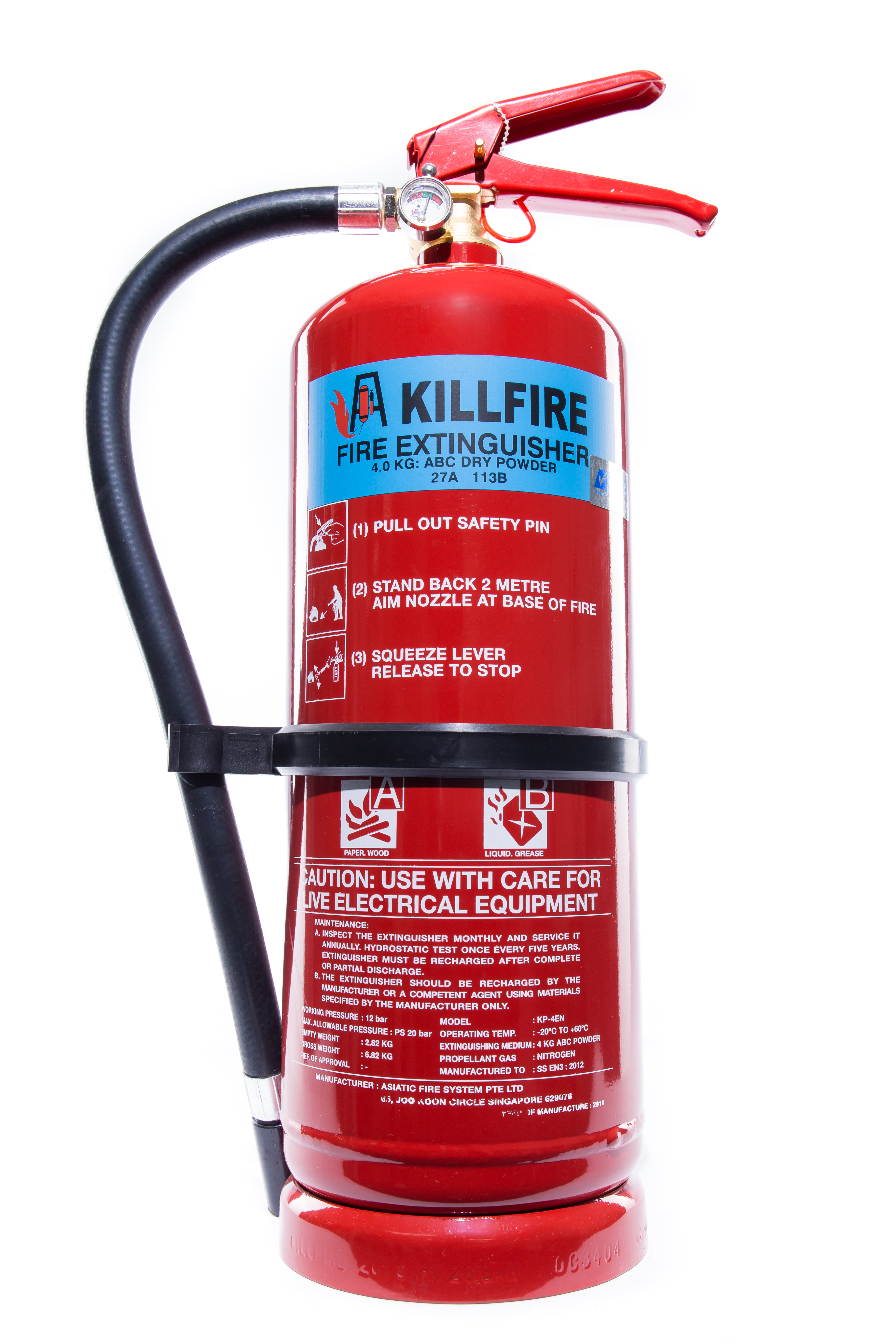 Killfire Fire Extinguisher 4KG