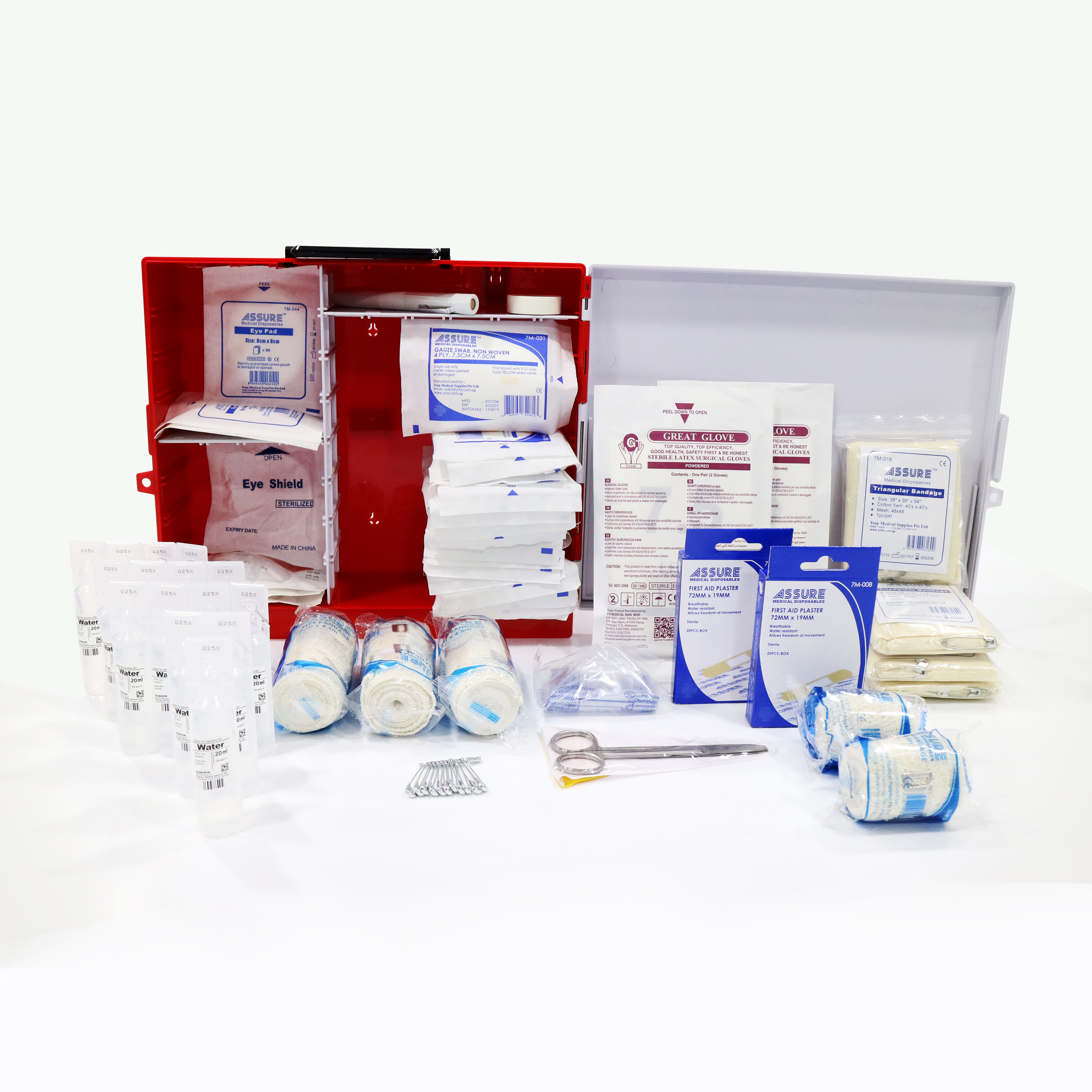 Assure First Aid Box, MOM Box B, for 50 Workers